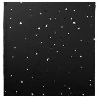 Serviettes De Table Étoiles de blanc sur le noir
