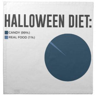 Serviettes De Table Festins de bonbons à régime de Halloween et