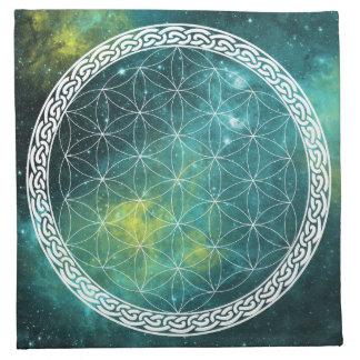 Serviettes De Table Fleur celtique d'univers du tissu en cristal de