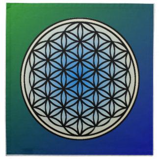 Serviettes De Table Fleur des grilles en cristal de la vie (placez 4)