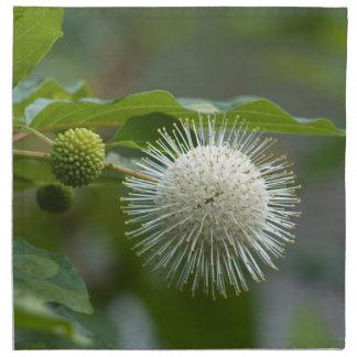 Serviettes De Table Fleur sauvage blanc de Buttonbush