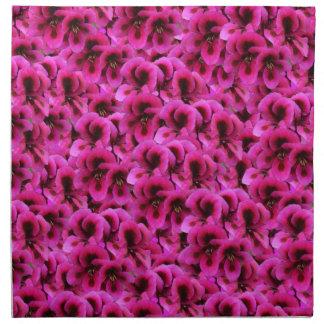 Serviettes De Table Fleurs magenta chaudes de géranium,