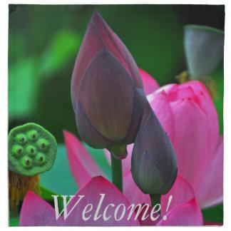 Serviettes De Table Fleurs roses de Lotus