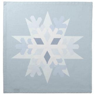 Serviettes De Table Flocon de neige d'hiver
