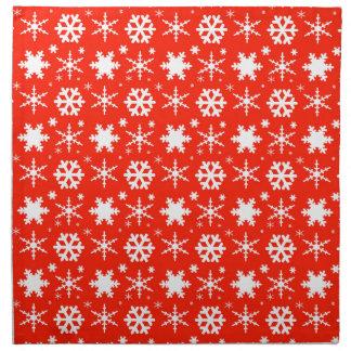 Serviettes De Table Flocons de neige rouges