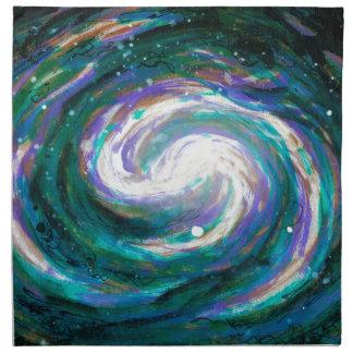 Serviettes De Table Galaxie verte et pourpre