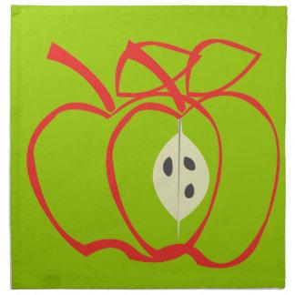 Serviettes De Table Grand Apple mignon modèlent des conceptions