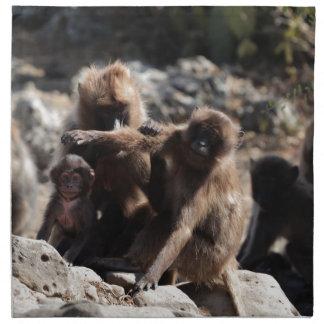 Serviettes De Table Groupe de babouins de gelada (gelada de
