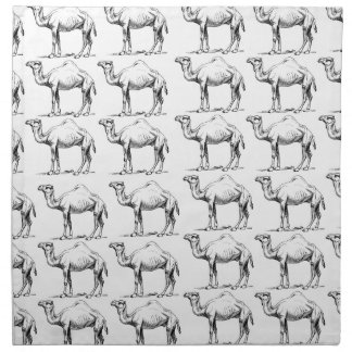 Serviettes De Table groupe de troupeau de chameaux