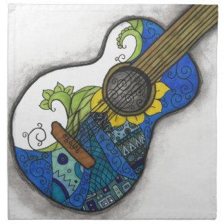 Serviettes De Table Guitare