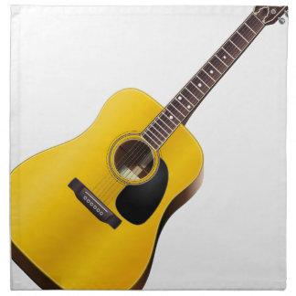 Serviettes De Table guitare acoustique