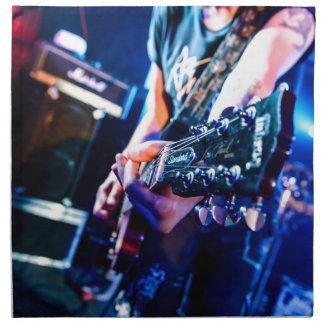 Serviettes De Table Guitare de rock