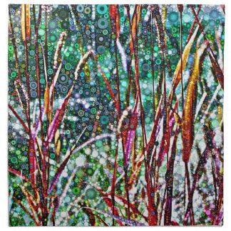 Serviettes De Table Herbes pointillées d'automne