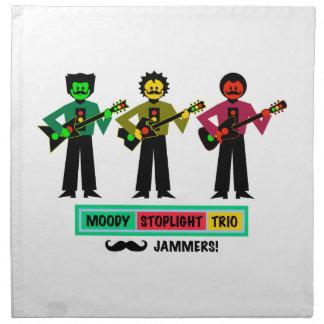 Serviettes De Table Joueurs de guitare déprimés de moustache de trio