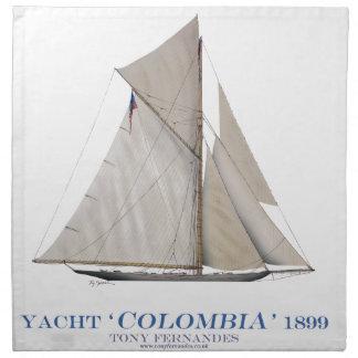 Serviettes De Table La Colombie 1899