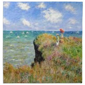 Serviettes De Table La falaise de Pourville de Claude Monet