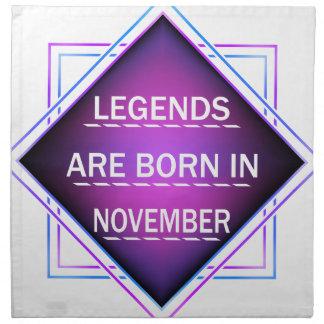 Serviettes De Table Les légendes sont nées en novembre