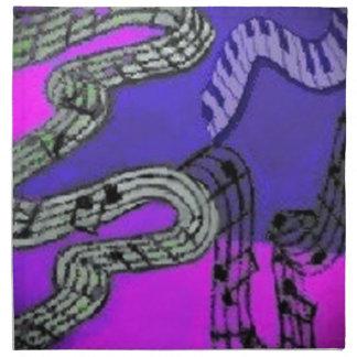 Serviettes De Table Les notes de musique et les couleurs brillantes