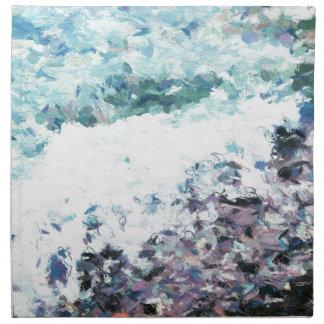 Serviettes De Table Les vagues enroulent au rivage - peinture - cadeau