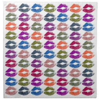 Serviettes De Table Lèvres colorées élégantes #13