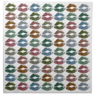 Serviettes De Table Lèvres colorées élégantes #15