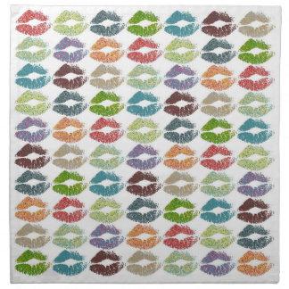 Serviettes De Table Lèvres colorées élégantes #16
