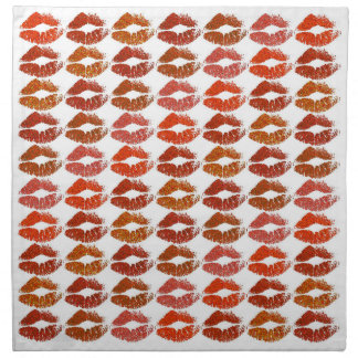 Serviettes De Table Lèvres colorées élégantes #21