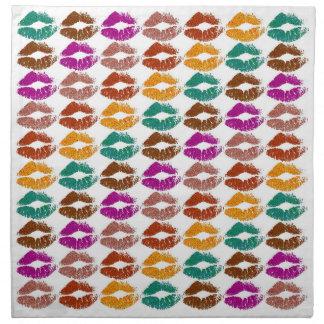 Serviettes De Table Lèvres colorées élégantes #22