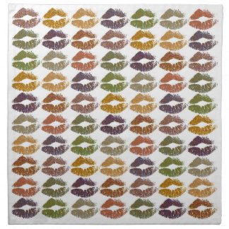 Serviettes De Table Lèvres colorées élégantes #25