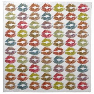 Serviettes De Table Lèvres colorées élégantes #38