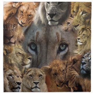 Serviettes De Table Lions heureux