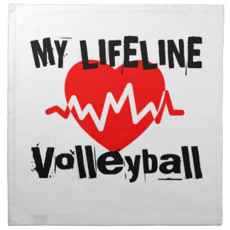 Serviettes De Table Ma ligne de vie volleyball folâtre des conceptions
