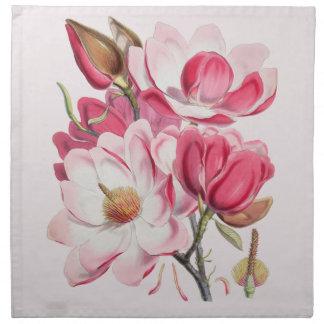 Serviettes De Table Magnolias roses