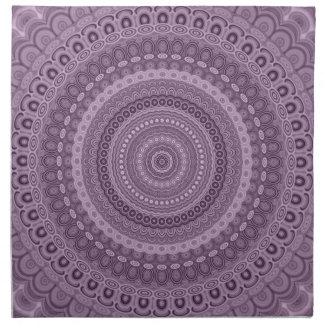 Serviettes De Table Mandala mauve de cercle