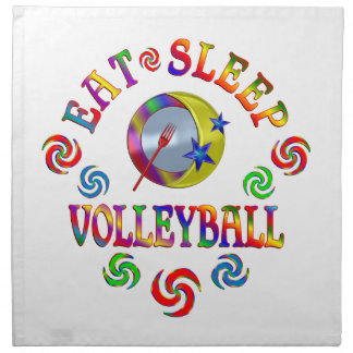 Serviettes De Table Mangez le volleyball de sommeil