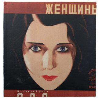 Serviettes De Table Mauvaise jeune femme russe