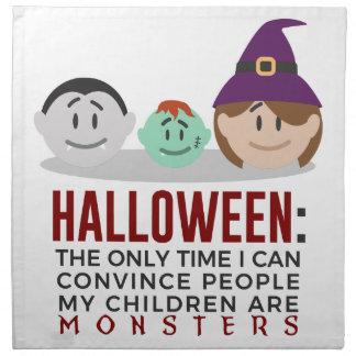 Serviettes De Table Mes enfants sont conception de Halloween de