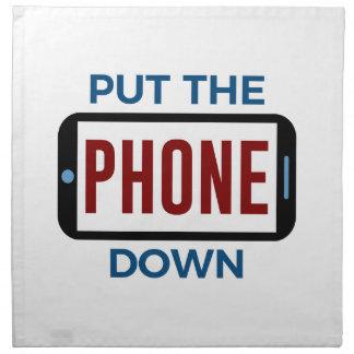 Serviettes De Table Moins de téléphone plus de contact humain de