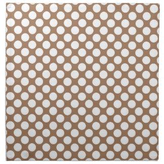 Serviettes De Table Motif abstrait moderne bronzage de point de polka