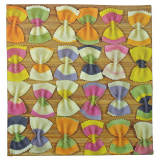 Serviettes De Table Motif de pâtes d'arc-en-ciel