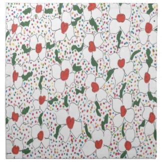 Serviettes De Table Motif floral classique
