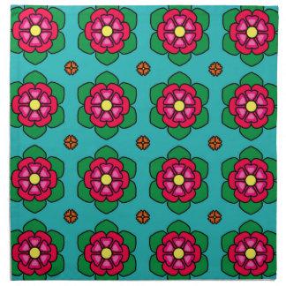 Serviettes De Table Motif floral d'Aqua