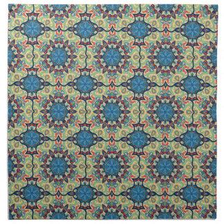 Serviettes De Table Motif floral ethnique abstrait coloré De de