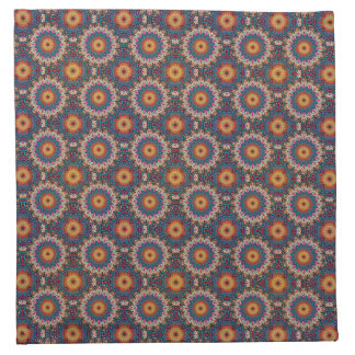 Serviettes De Table Motif floral ethnique abstrait coloré de mandala