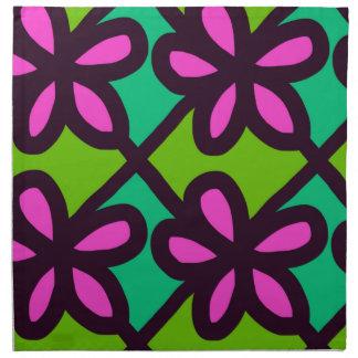 Serviettes De Table motif floral rose