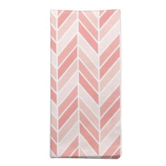 Serviettes De Table motif rose de chevron