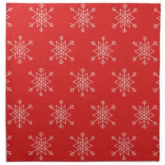 Serviettes De Table Motif sans couture avec des flocons de neige. Fond