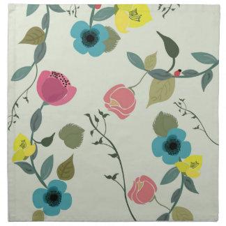 Serviettes De Table Motifs floraux dénommés asiatiques