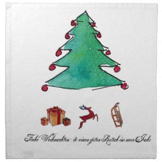 Serviettes De Table Noël et bon joyeux glisser avec le rentier