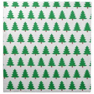 Serviettes De Table nouveau blanc de vert de conception de Noël